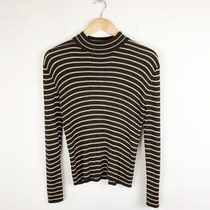 Vintage Silk Mock Neck Sweater